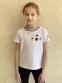 Белая футболка для девочки с аппликациями Lukas 9238 0