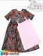 Платье из евросетки и трикотажа Mone 1713-1 1