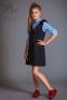 Школьный сарафан-платье Baby angel 1110, цвет синий 10