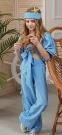 Летний костюм для девочки Wellkids, цвет голубой 3