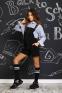 Школьный комбинезон для девочки Baby angel 1289, цвет черный 1