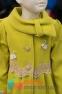 Кашемировое пальто для девочки Suzie Изольда, цвет горчичный 2