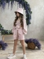 Летний костюм для девочки Wellkids, цвет бежевый 1