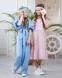 Летний костюм для девочки Wellkids, цвет голубой 1