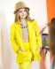 Льняной брючный костюм для девочки-подростка Wellkids, цвет желтый 0