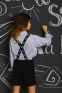 Школьный комбинезон для девочки Baby angel 1289, цвет черный 6