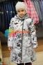 Пальто демисезонное для девочки Huppa LUISA 12430010, цвет 91348 3