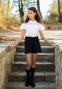 Школьная юбка-шорты Sly 401B/S/19, цвет синий 1