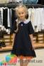 Школьное платье MONE 1618-2 с кружевным воротничком, цвет синий 2