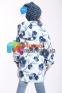 Демисезонная парка для девочки AVG-137/S, цвет белый с голубым 3