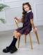 Школьное платье для девочки Wellkids, цвет красная клетка 2