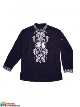 1385769f60d Льняная вышиванка для мальчика Эмиратская лилия